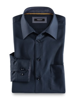 Extraglatt-Hemd Blau Detail 1