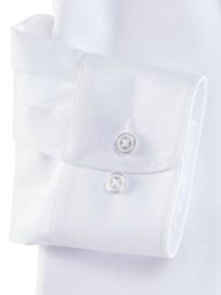 Extraglatt-Hemd Premium Weiss Detail 4