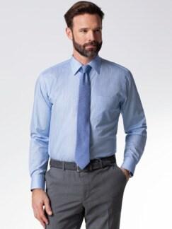 Extraglatt-Hemd Naturstretch Streifen Bleu Detail 2