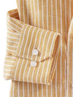 Irisches Leinenhemd Clubstr. Gelb Detail 4