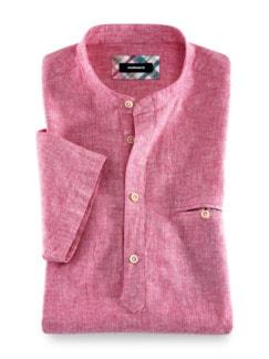 Oasen-Shirt Uni Beere Detail 1