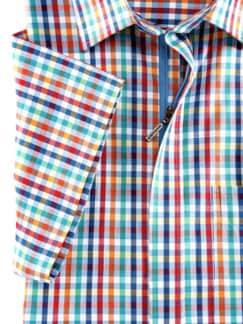 Reißverschluss-Hemd Easycare Vichykaro Detail 4