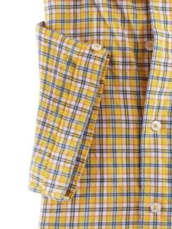 Crashoptik-Hemd Sommerbrise Gelb/Weiß kar. Detail 4