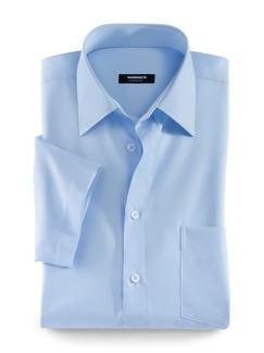 Extraglatt-Hemd Kent-Kragen Hellblau Detail 1