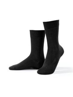 Micromodal Socke 2er-Pack Schwarz Detail 1