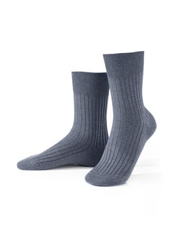 Baumwoll-Socke 2er-Pack Jeansblau Detail 1