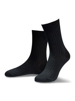 Baumwoll-Socke 2er-Pack Schwarz Detail 1