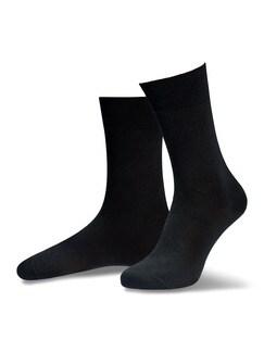 Pima Cotton Socke 2er-Pack Schwarz Detail 1