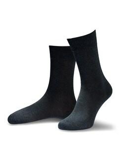 Pima Cotton Socke 2er-Pack Anthrazit Detail 1