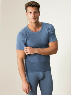Thermo-Shirt 2er-Pack Blau Detail 1