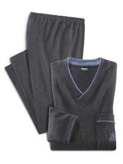 Thermo-Schlafanzug Anthrazit Detail 1