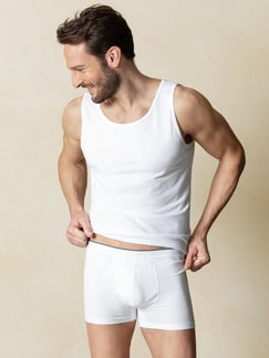 Cotton-Stretch Pants 2er-Pack Weiß Detail 2