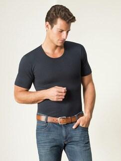 Modal-Shirt Rundhals 2er-Pack Dunkelblau Detail 1