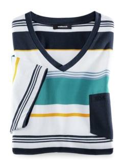 Summertime V-Shirt Lagune Detail 1