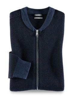 Strick-Blouson Atelier Jeansblau Detail 1