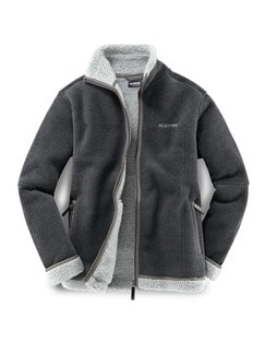 Klepper Jacke Berber-Fleece Anthrazit Detail 1