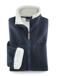 Klepper Jacke Berber-Fleece Marine Detail 1