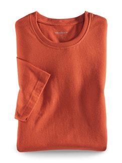 T-Shirt Rundhalsausschnitt Orange Detail 1