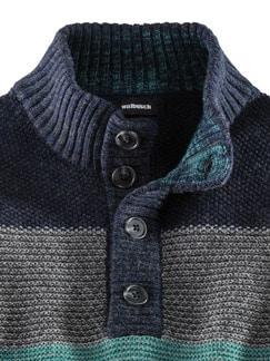 Troyer Mouline-Streifen Blau/Smaragd Detail 4