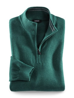 Troyer Cashmere Touch Smaragd Detail 1