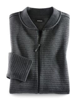 Zip-Jacke Aktiv-Struktur Grau Melange Detail 1