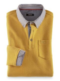 Hemd-Pullover 2 in 1 Safran Detail 1