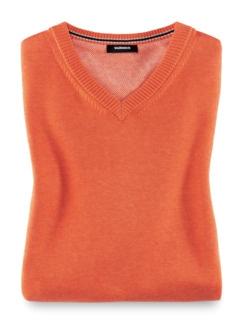 Pullunder Cashmere Touch Orange Detail 1