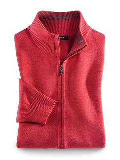 Zip-Jacke Cashmere Touch Lobster Detail 1
