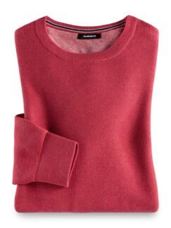 Struktur-Pullover Soft Cotton Himbeere Detail 1