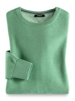 Struktur-Pullover Soft Cotton Pistazie Detail 1