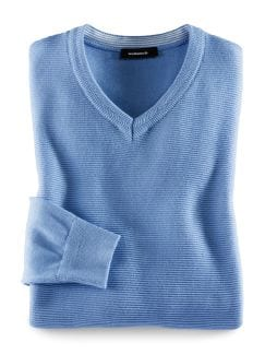 Cricket-Pullover Hellblau Detail 1
