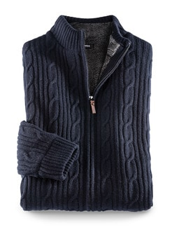 Mollig-Warm-Jacke Navy Detail 1