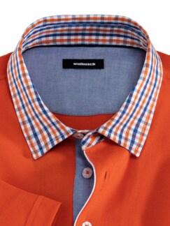 Pique-Polo Karokragen Orange Detail 3