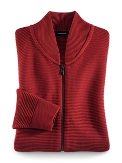 Zip-Jacke Ottoman Rot Detail 1