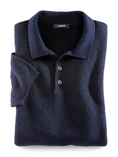 Strick-Polo Eponge Navy Detail 1