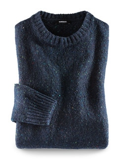Donegal Rundhals-Pullover Navy Detail 1