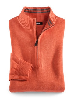 Troyer Cashmere Touch Orange Detail 1