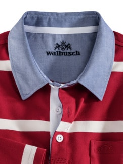 Streifen-Shirt Supersoft Rot gestreift Detail 4