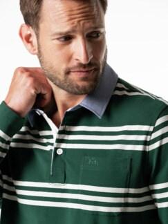 Streifen-Shirt Supersoft Dunkelgrün gestreift Detail 4