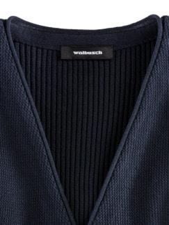 Feinstrick-Weste Gentleman Marine Detail 3