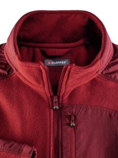 Klepper Microfleece-Jacke Rot Detail 3