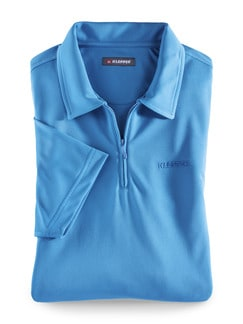 Klepper Dry Touch Polo Blau Detail 1