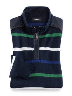 Merino-Troyer Nautica Marine/Royal/Gr Detail 1