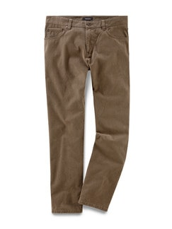 Five Pocket Hose Lederfinish Camel Detail 1