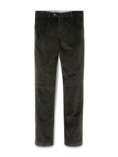 600 Rippen Cord Chino Oliv Detail 1
