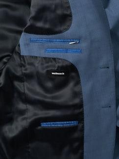 Naturstretch-Anzug-Sakko Blaugrau Detail 4