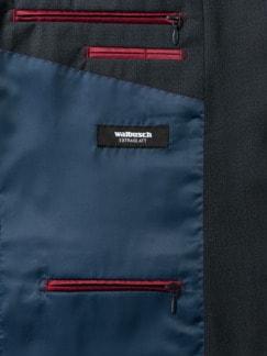 Reise-Anzug-Sakko Minimalkaro Blau/Schwarz Detail 3