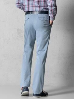 Easycare Light Cotton Chino Hellblau Detail 3