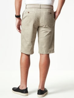 Highstretch Bermudas Blätterdruck Beige Detail 4