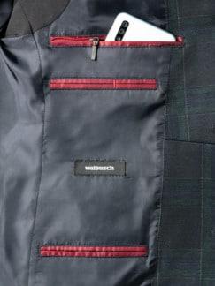 Jersey Blazer Blackwatch Blau gemusteret Detail 4